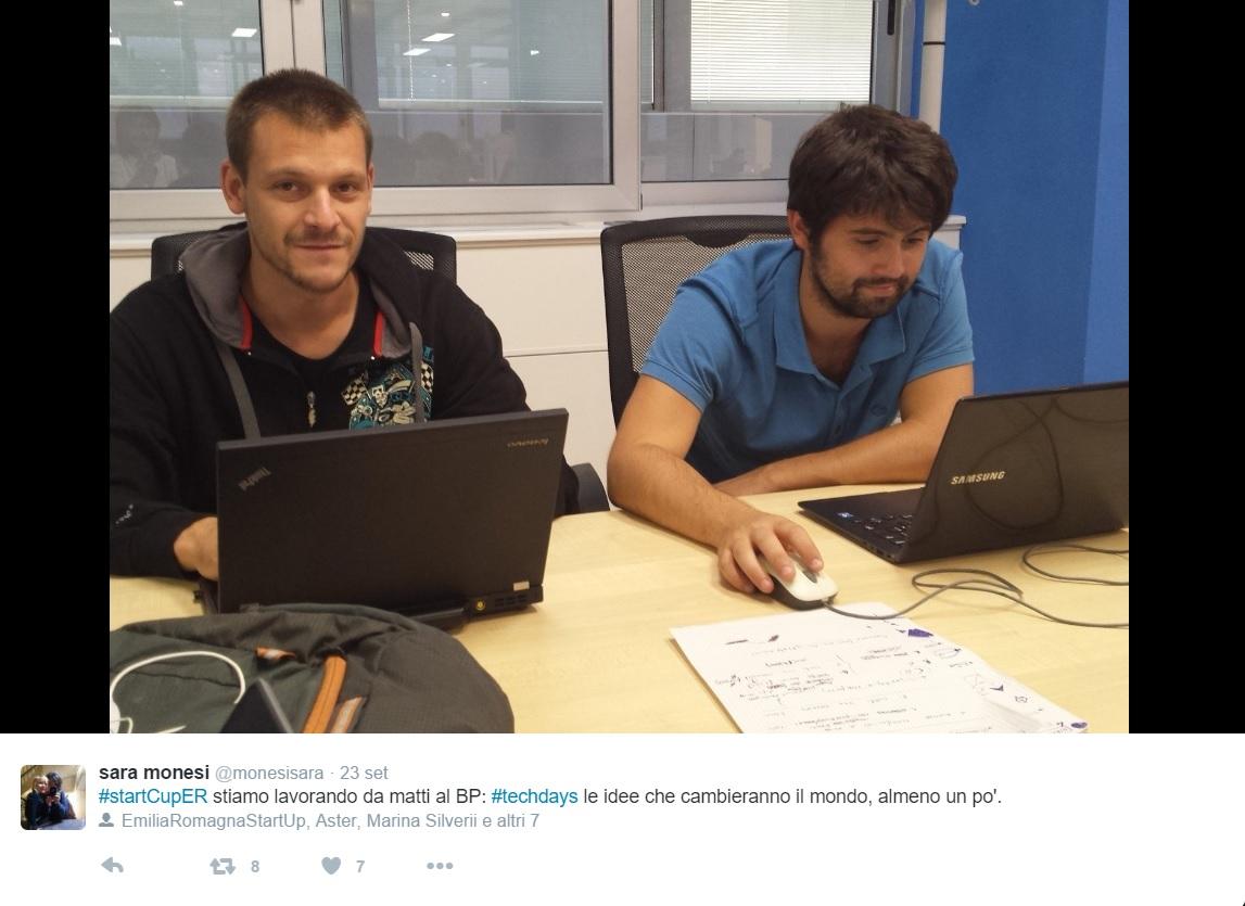 I fondatori di IndioTECH srl al lavoro durante i TechDays. Grazie a @saramonesi per la foto